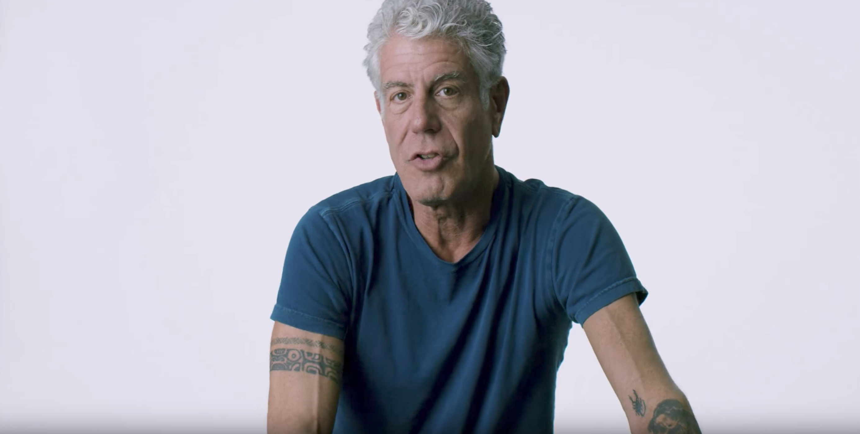 Anthony Bourdain in new documentary, Wasted! The Story of Food Waste.