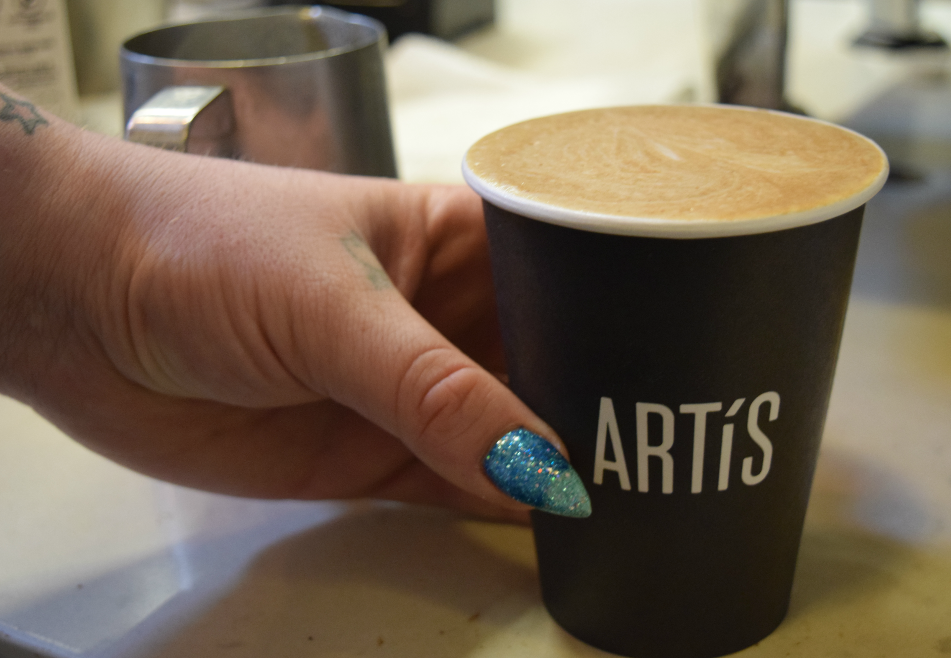 Artís Coffee's homeade pumpkin syrup makes a subtler, less sweet latte.