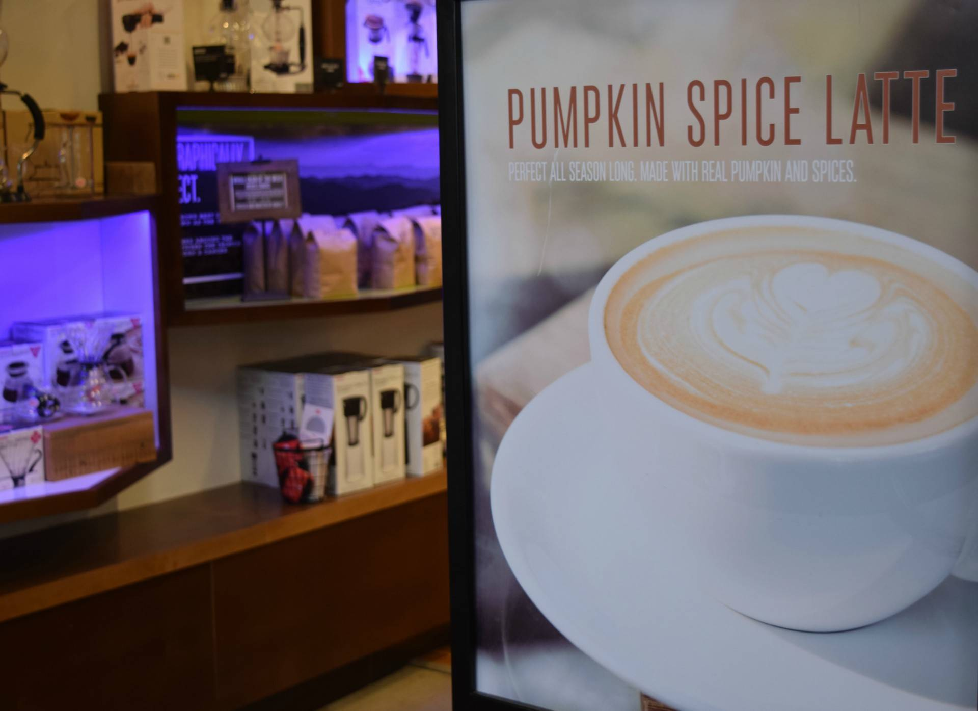 The pumpkin spice latte at Artís Coffee is one of the store's most popular drinks.