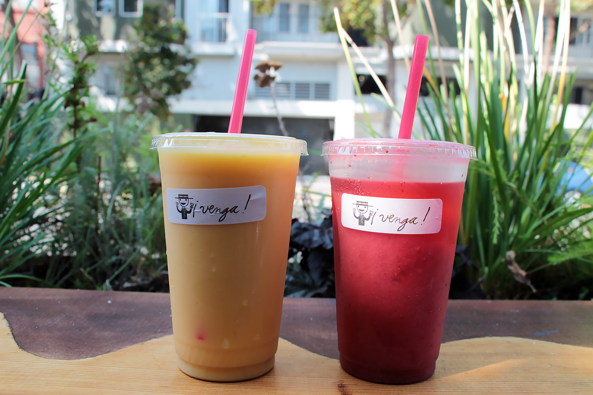 Homemade fruit drinks (mango and strawberry) are excellent accompaniments.