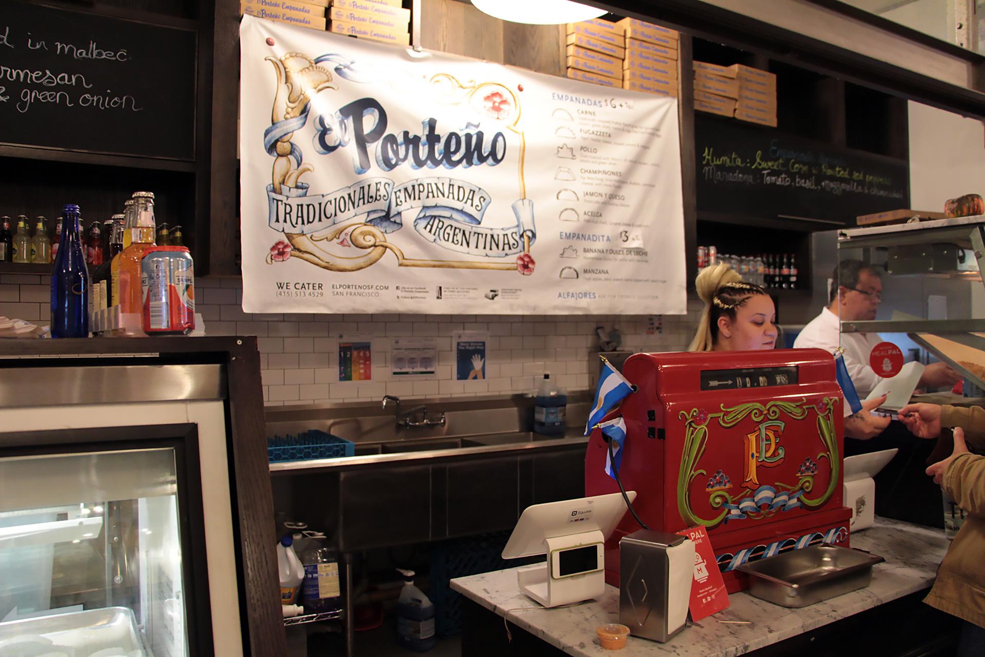 El Porteño counter in Ferry Building
