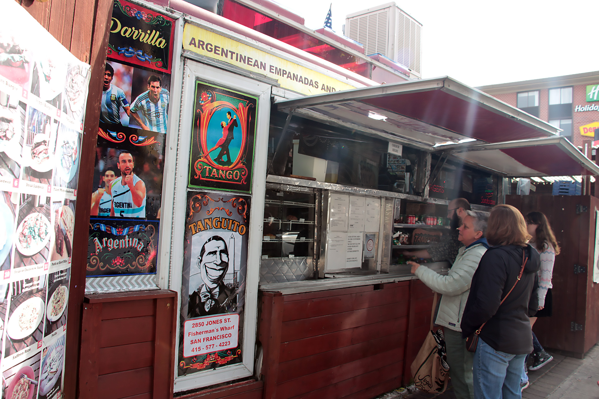 Ordering at the Tanguito truck.