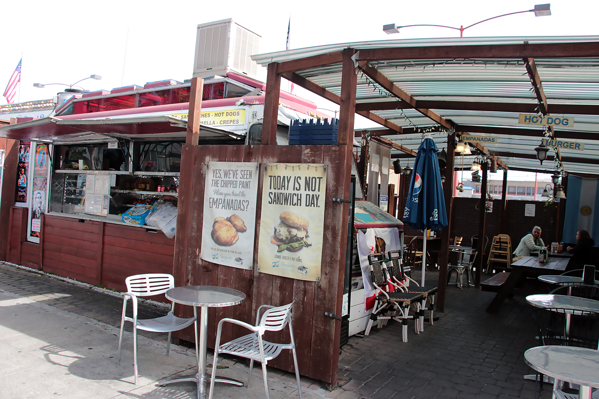 Tanguito truck and dining area.
