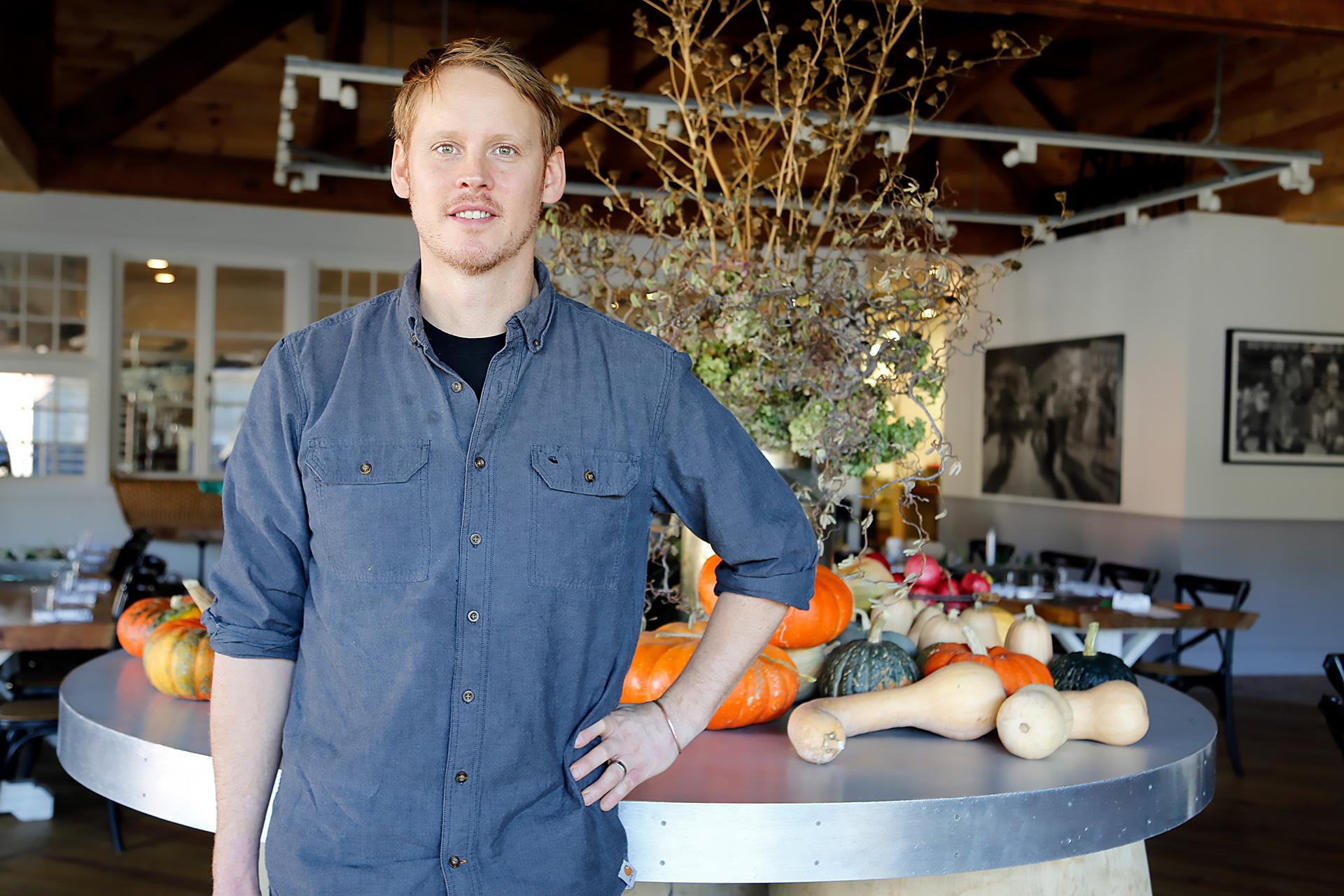 Erik Johnson at his restaurant Trading Post in Cloverdale.