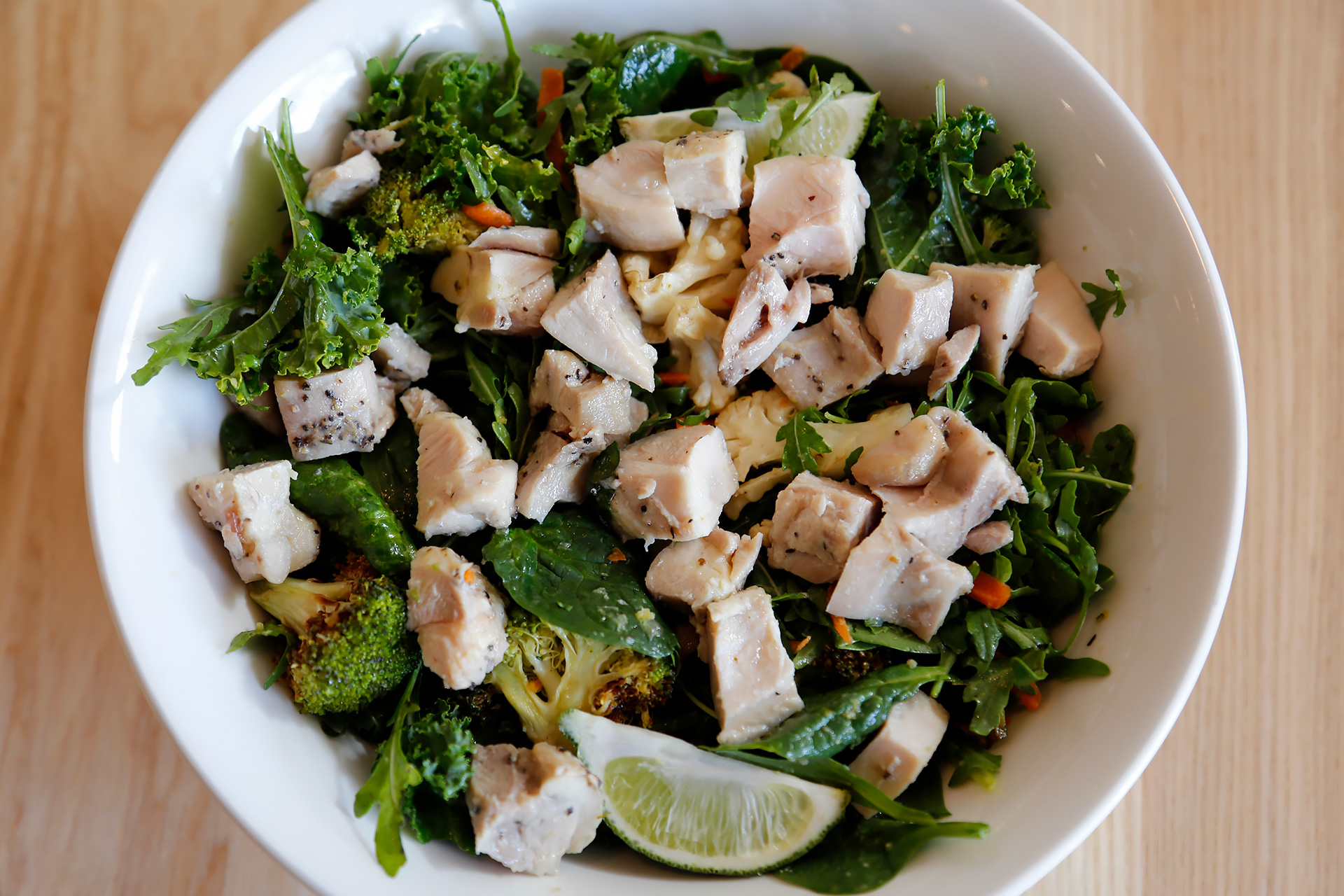 Roasted Brassica Salad with pastured chicken.
