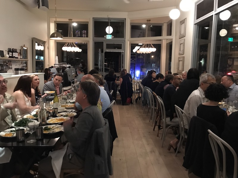Group dinner event at Le Marais Castro.