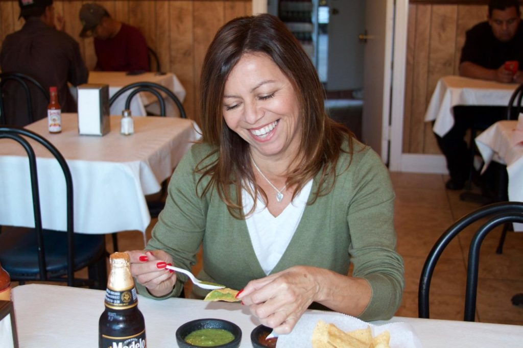 "In this photo, Delia Nieto at her favorite ""hidden gem"" in Healdsburg."