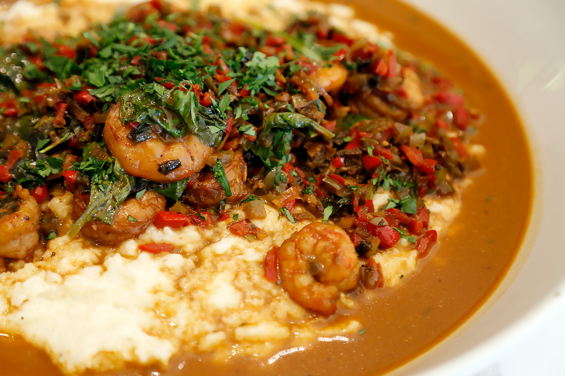 Tanya Holland's Creole BBQ Shrimp and Grits