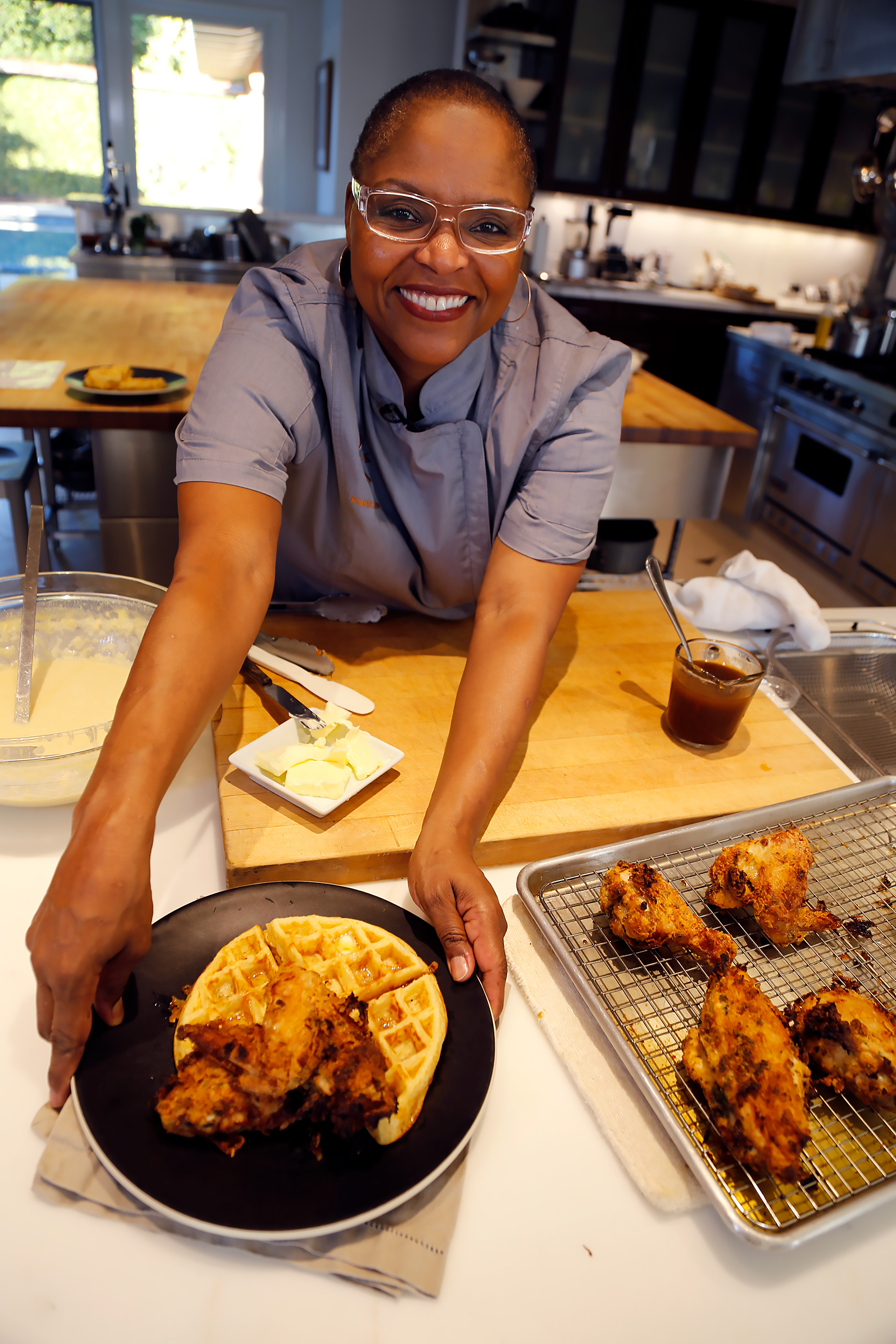 Brown Sugar Kitchen's Acclaimed Cornmeal Waffles and Buttermilk Fried Chicken