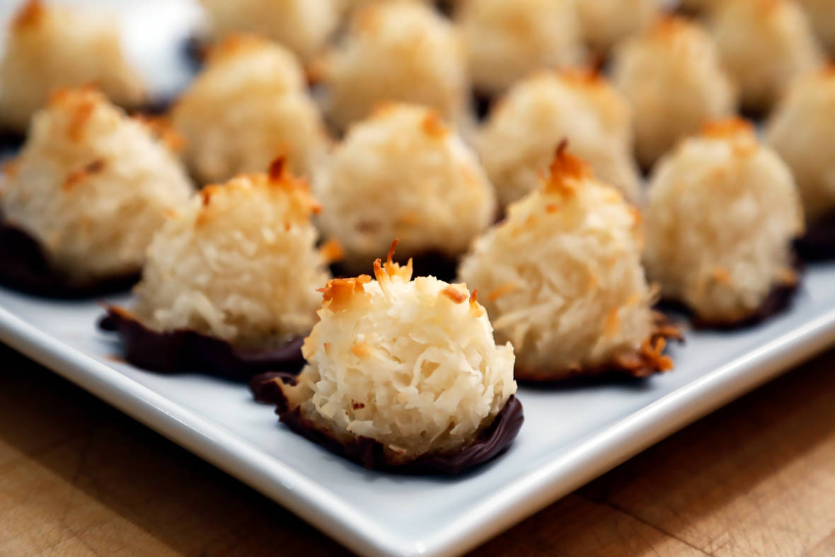 Cookie Recipe: Chocolate-Dipped Coconut Macaroons