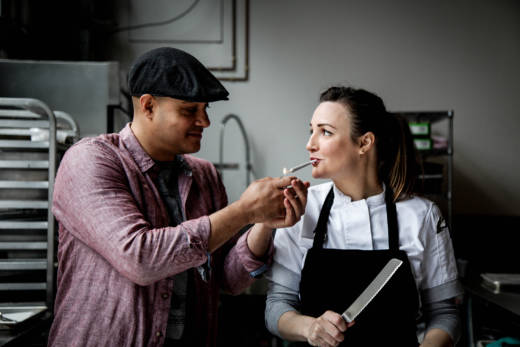Ryan Bush and chef Coreen Carroll of The Cannaisseur Series know how to light up a party.