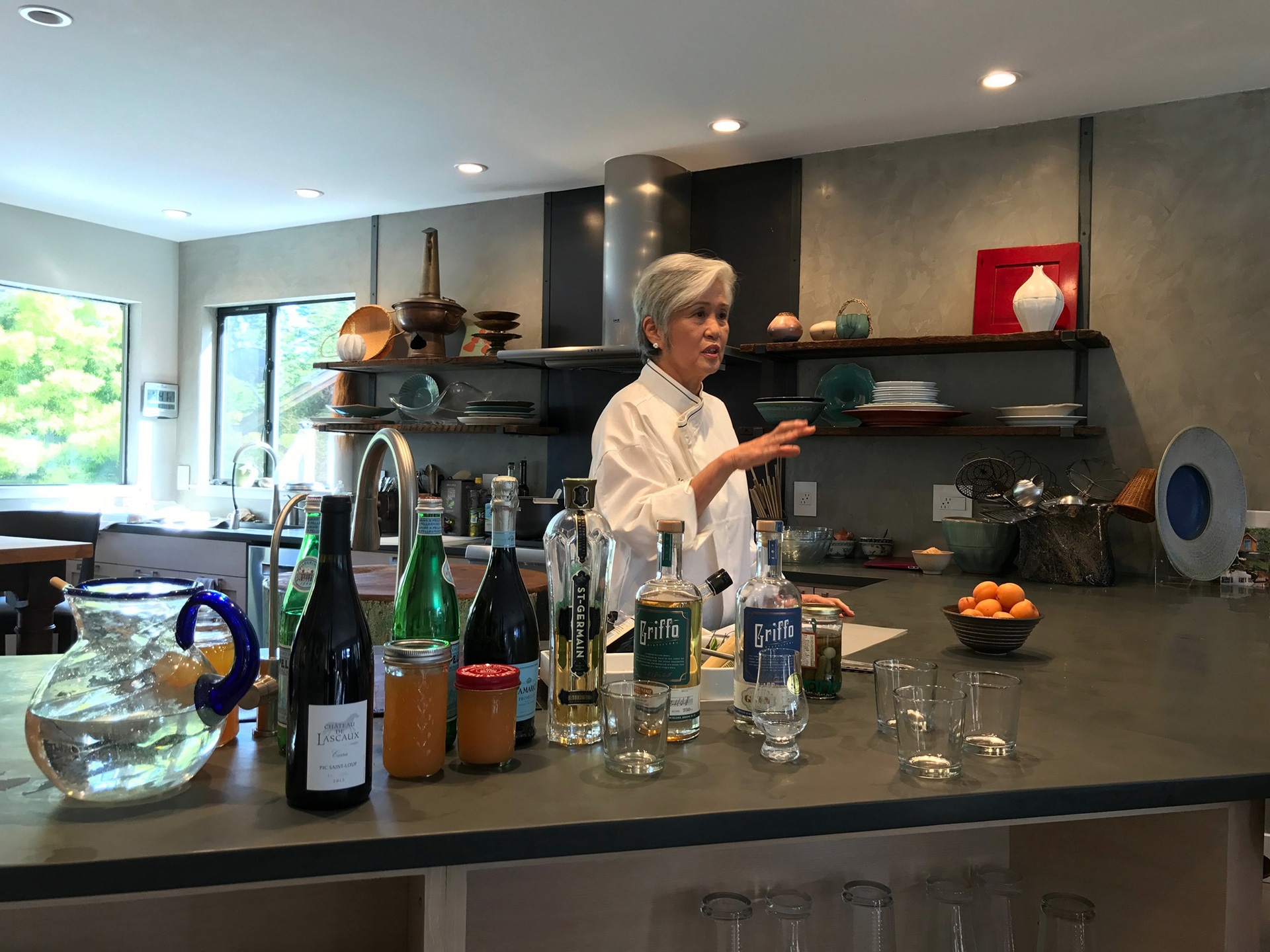 "Chef Olivia Wu in her Moss Beach ""learning kitchen."""