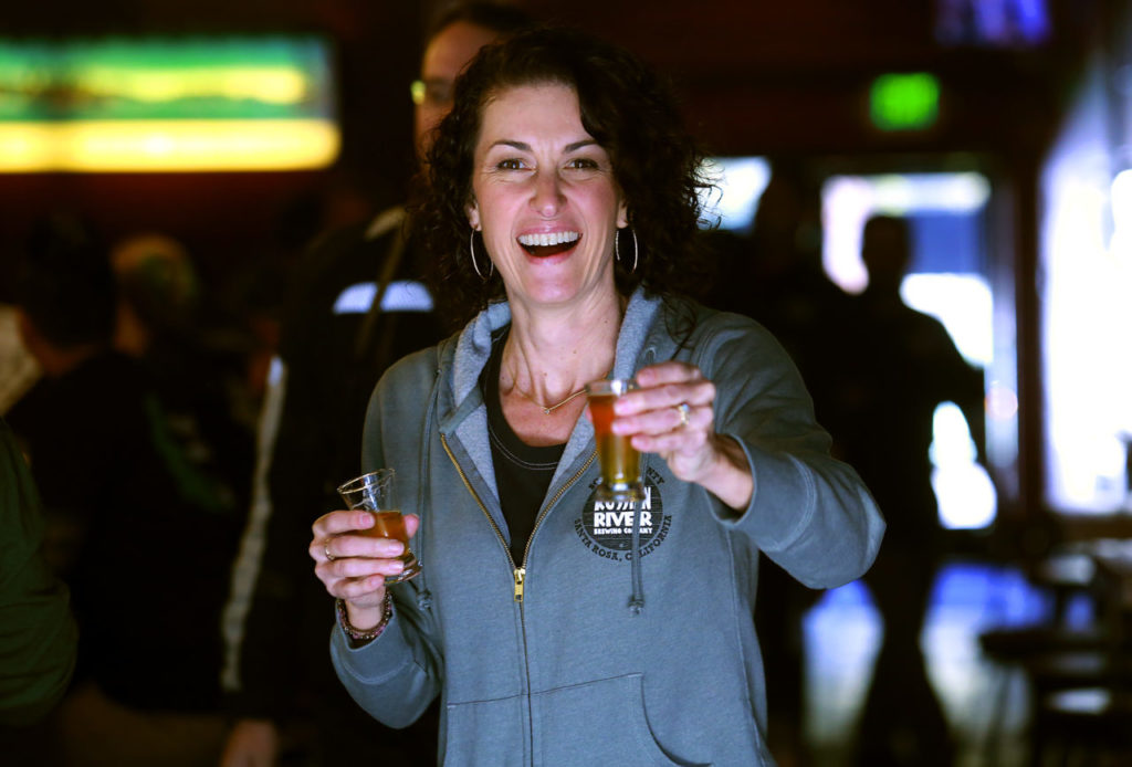 Russian River Brewing Company owner Natalie Cilurzo offers a test of Pliny the Younger.
