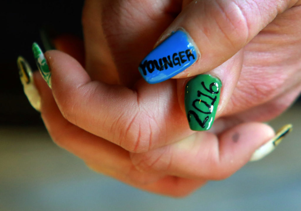 Waitress Alison Bellman painted her nails for the release of Pliny the Younger last year.