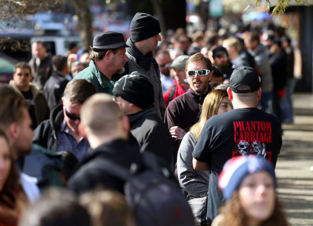 Beer lovers from around the world stood in line for their chance to taste Pliny the Younger at Russian River Brewing Company in 2017.