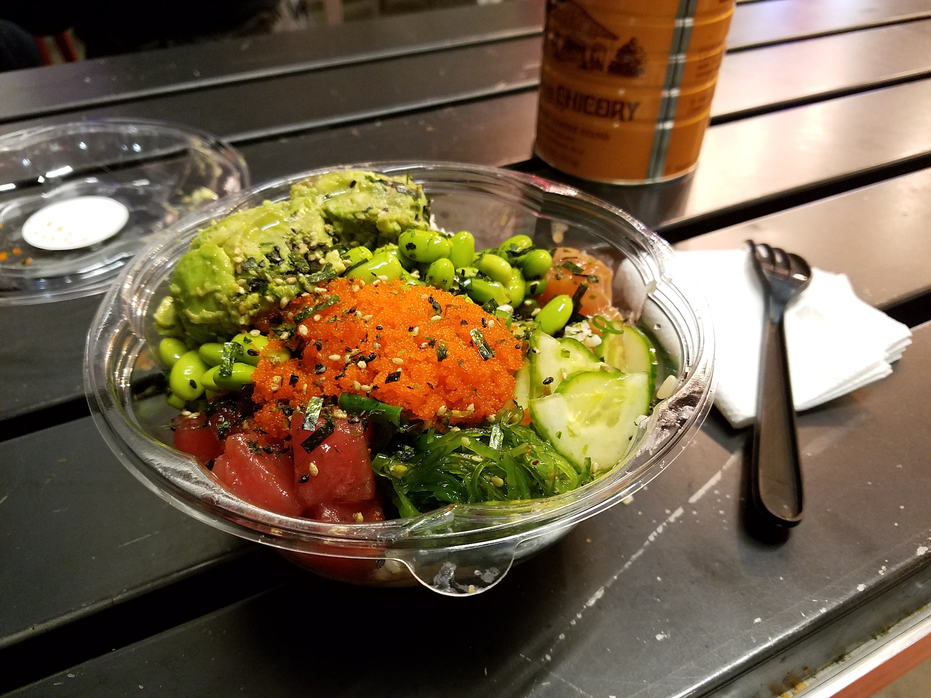 A Poke Delish bowl.