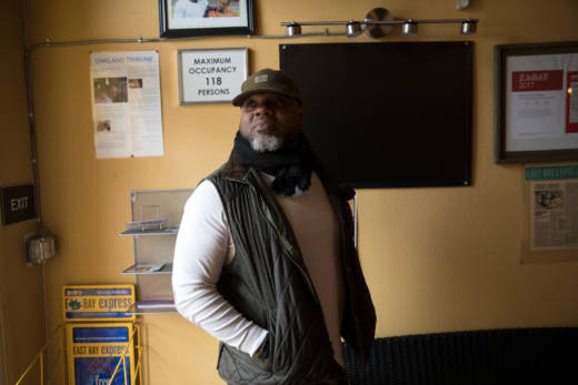 """Adrianå Henderson says he and other black restaurateurs in Oakland share tips about trends and bad employees. """"I think sometimes there is a perception of service and quality of food that we have to deal with, in regard to competing with white restaurants that serve American cuisine or high end,"""" he says."""