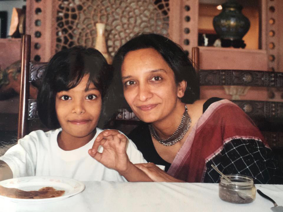 Javeri Kadri with her mother as a child.