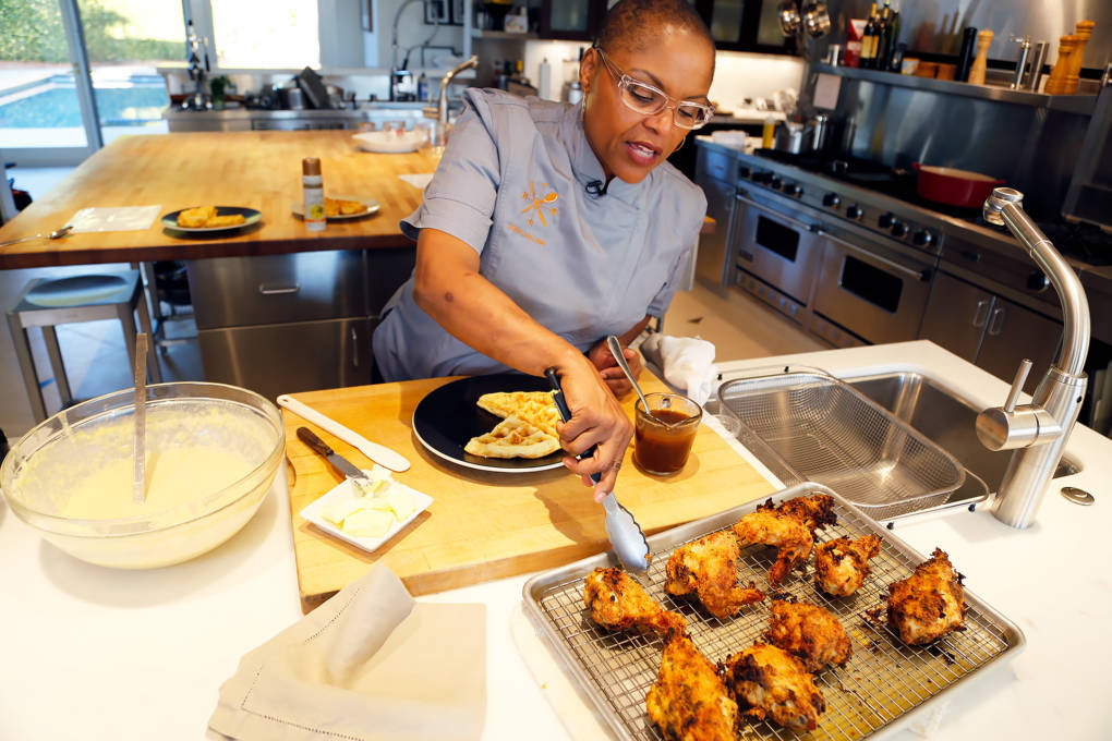 Chef Tanya Holland from Oakland's Brown Sugar Kitchen shows you how to make Buttermilk Fried Chicken.