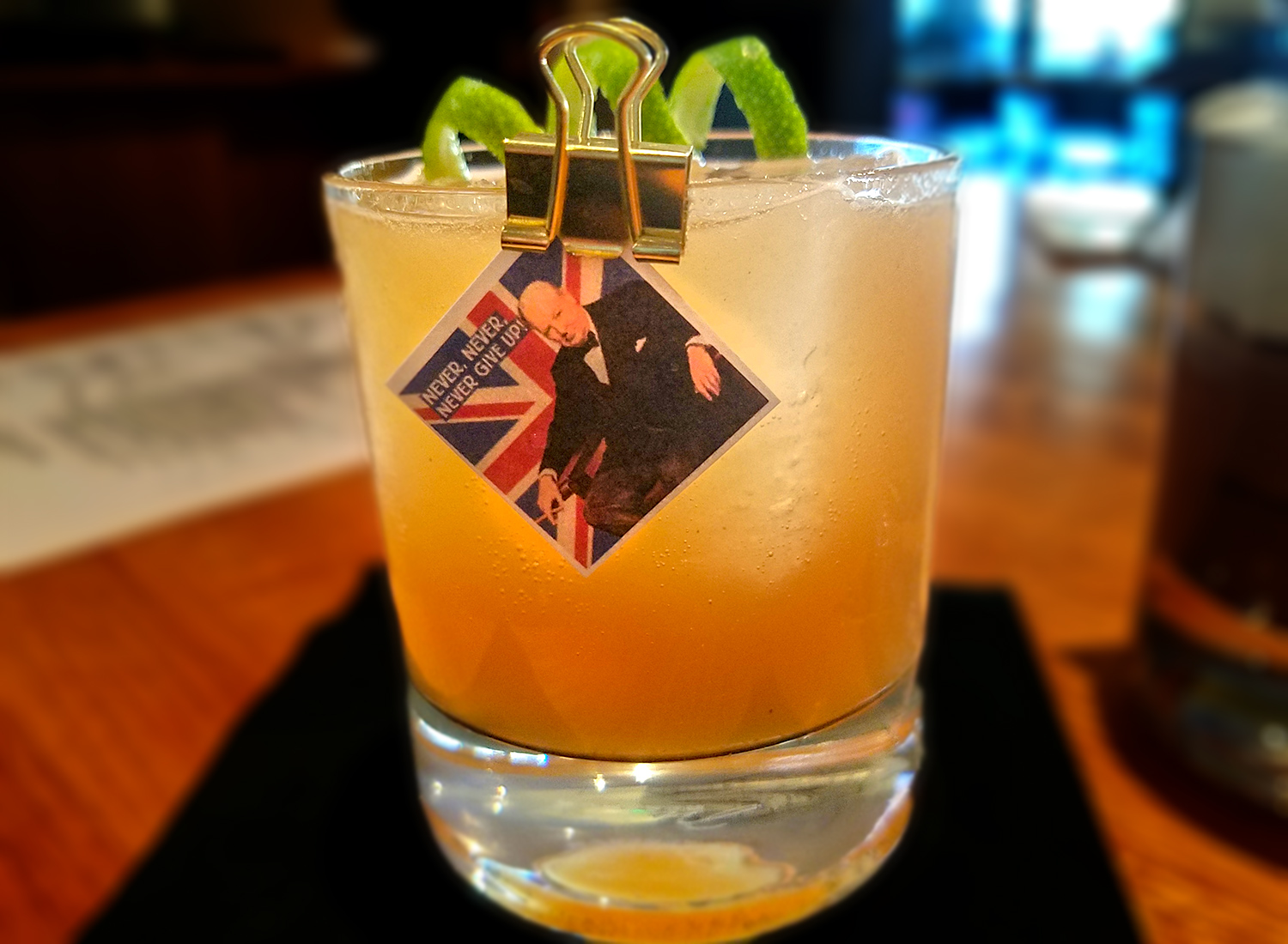 The Churchill cocktail made with tequila and mezcal is a smoky ode to the British Bulldog at Perch + Plow in Santa Rosa.