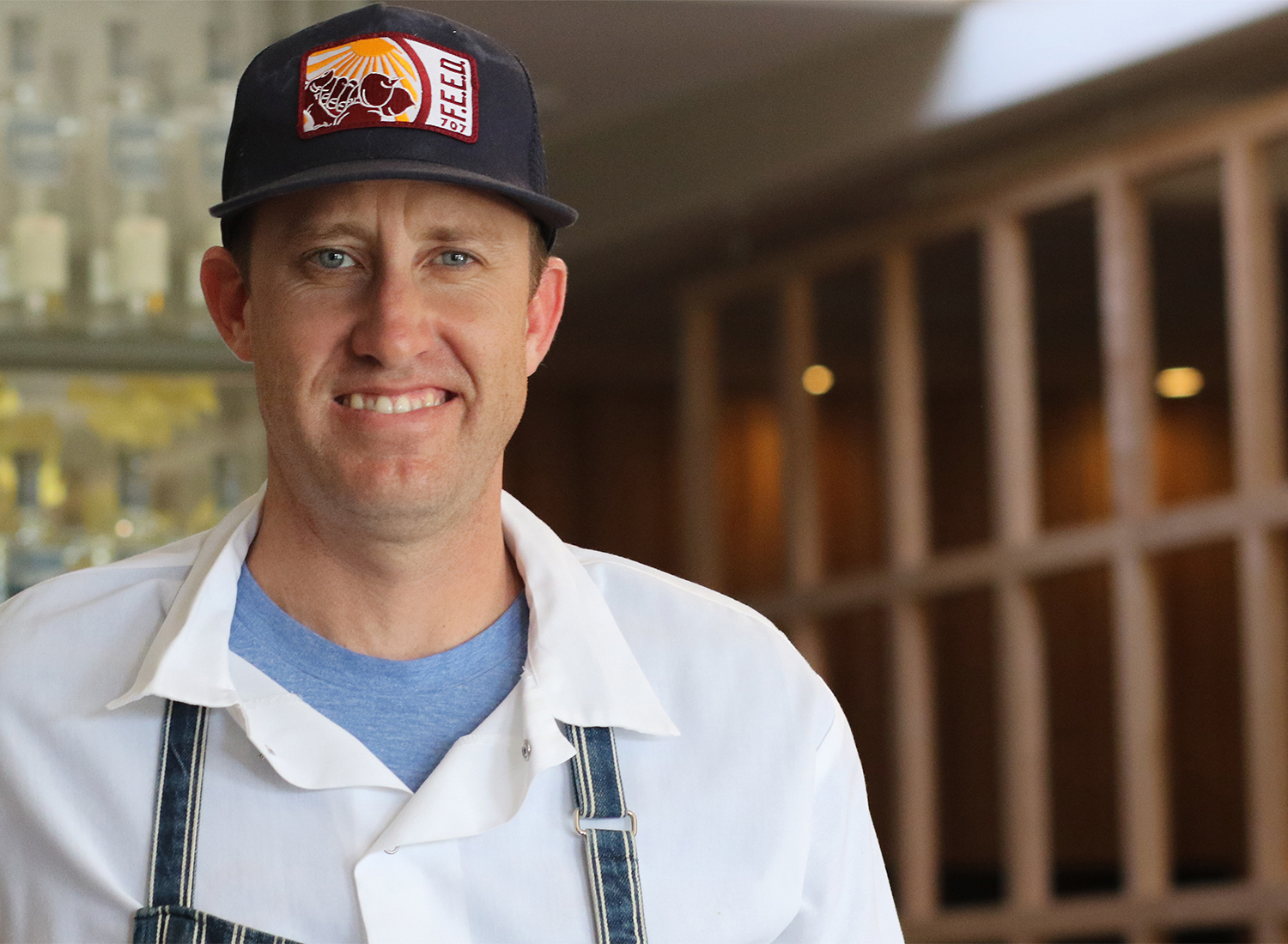 Chef Mike Mullins at Perch and Plow restaurant in Santa Rosa.