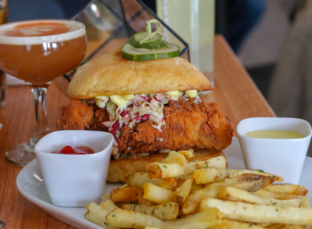 Fried chicken sandwich.