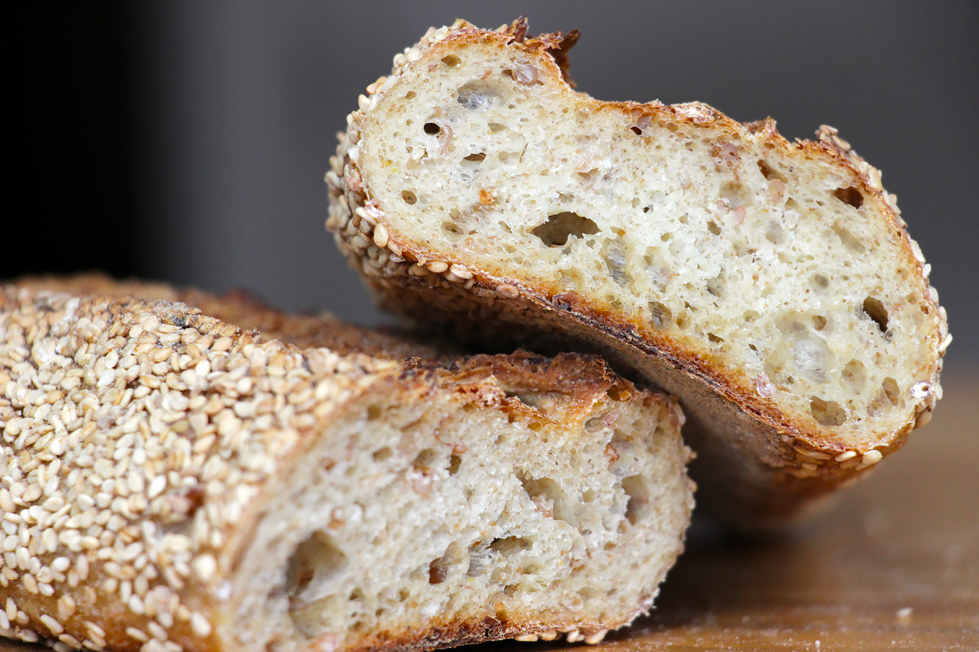 Firebrand's Sprouted Rye Demi Baguette