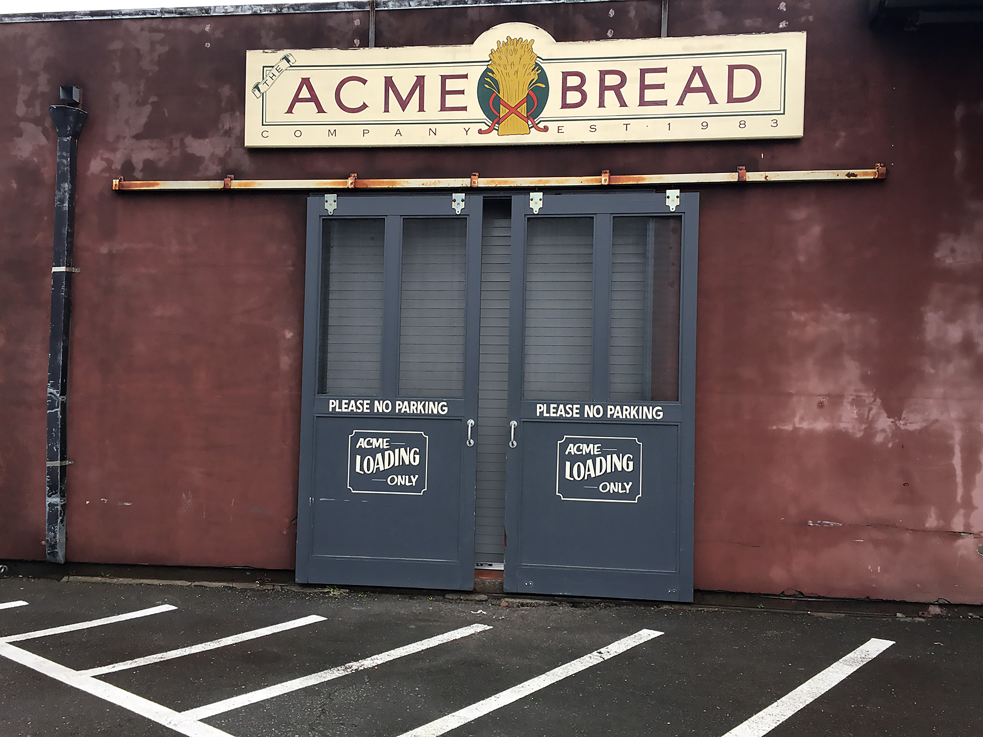 Outside Acme Bread in Berkeley