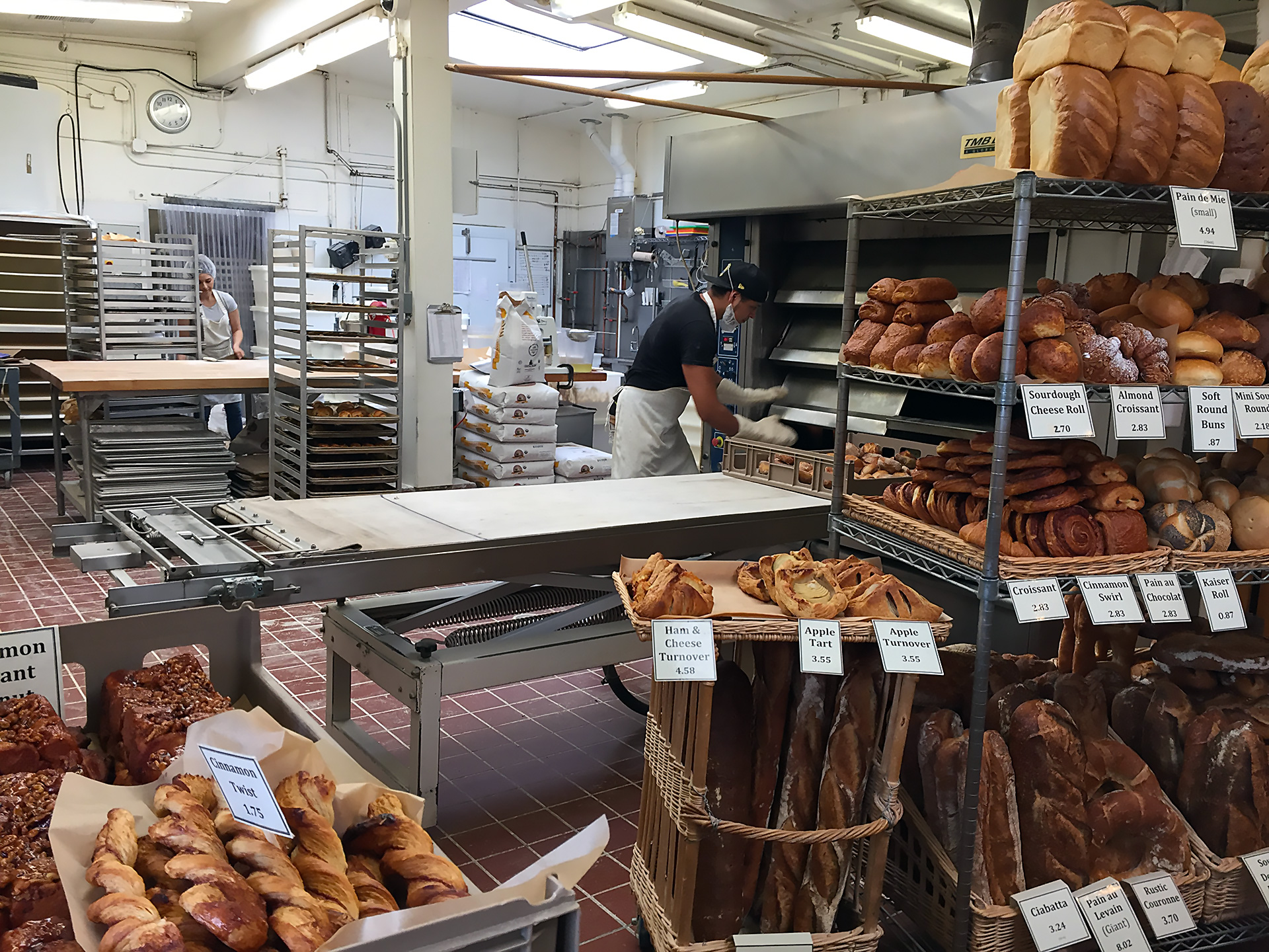 Baking inside Acme Bread Company in Berkeley