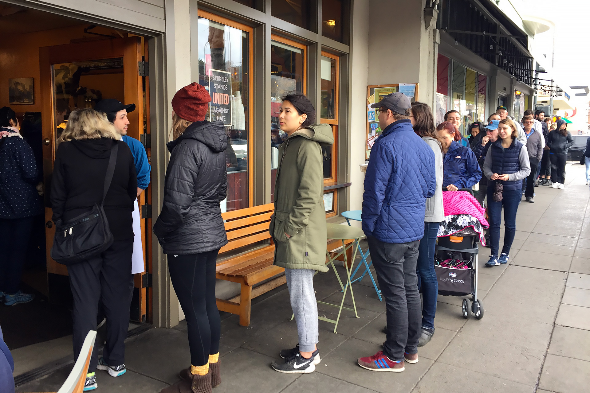 Saturday morning line outside the Cheeseboard