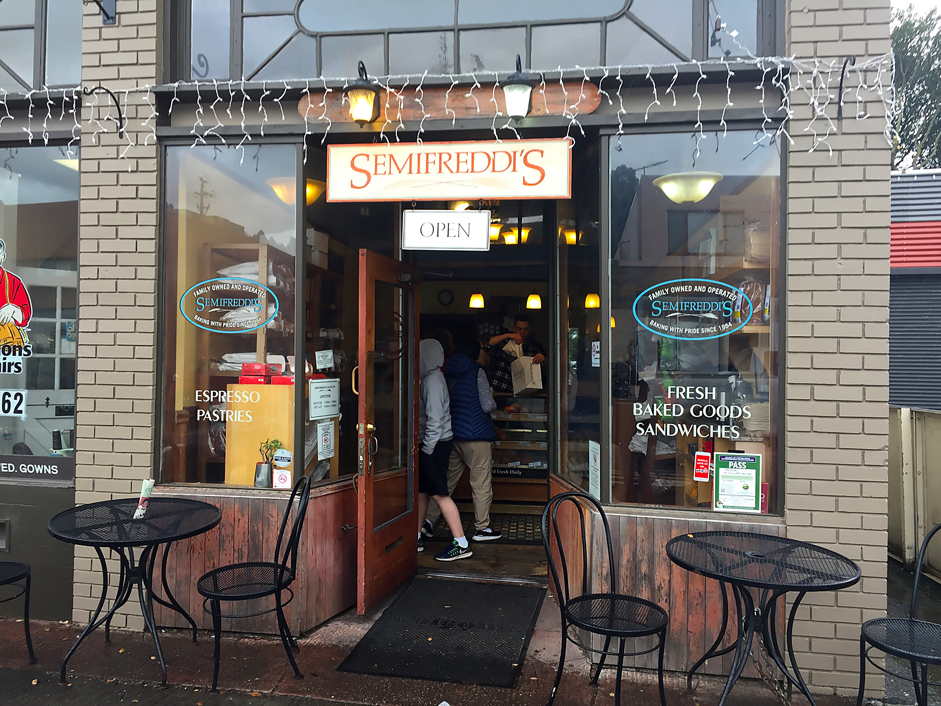 Semifreddi's cafe in Kensington