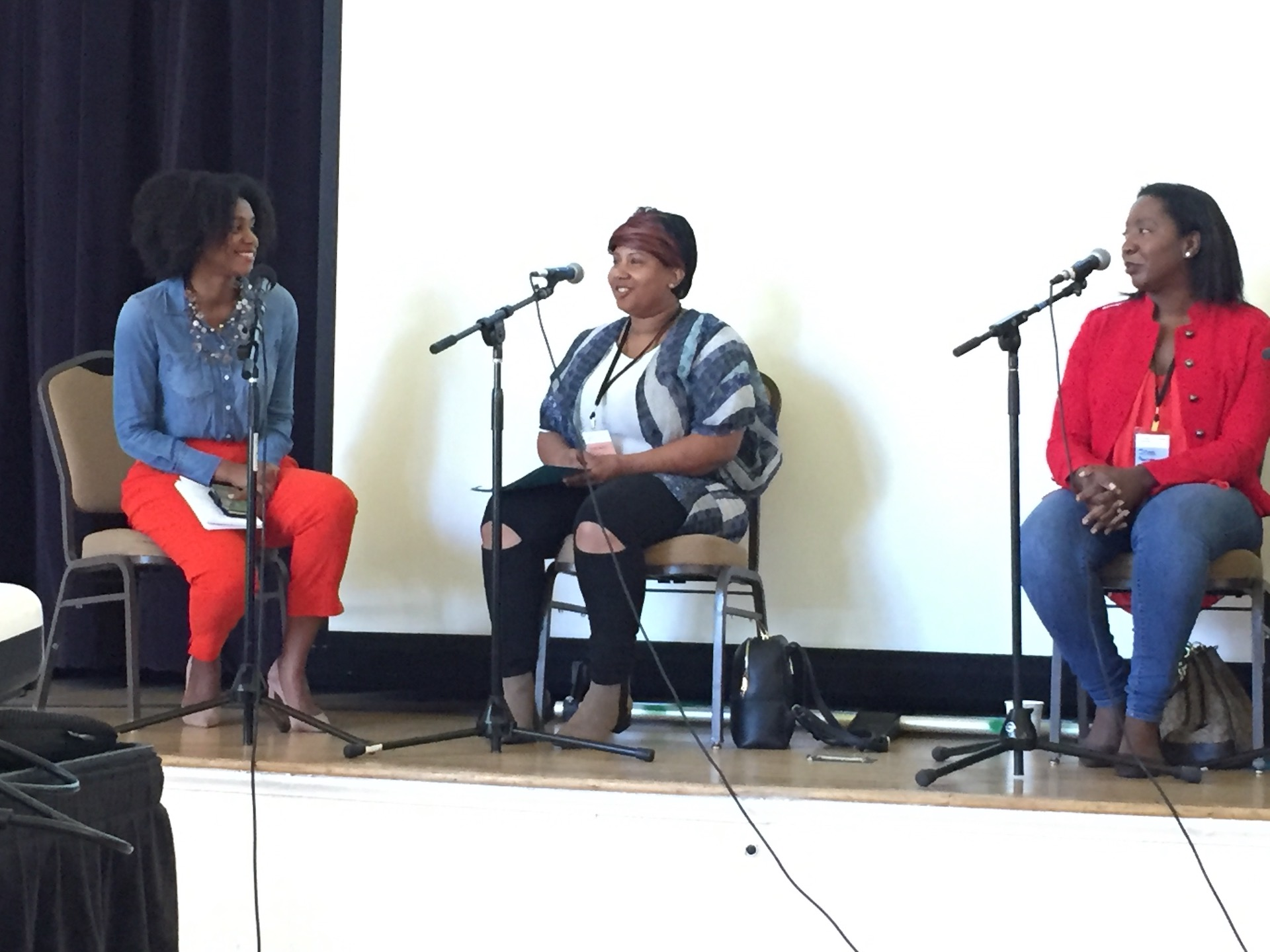 Shakirah Simley, Tiffany Carter, Shani Jones on panel Black Leaders in Food