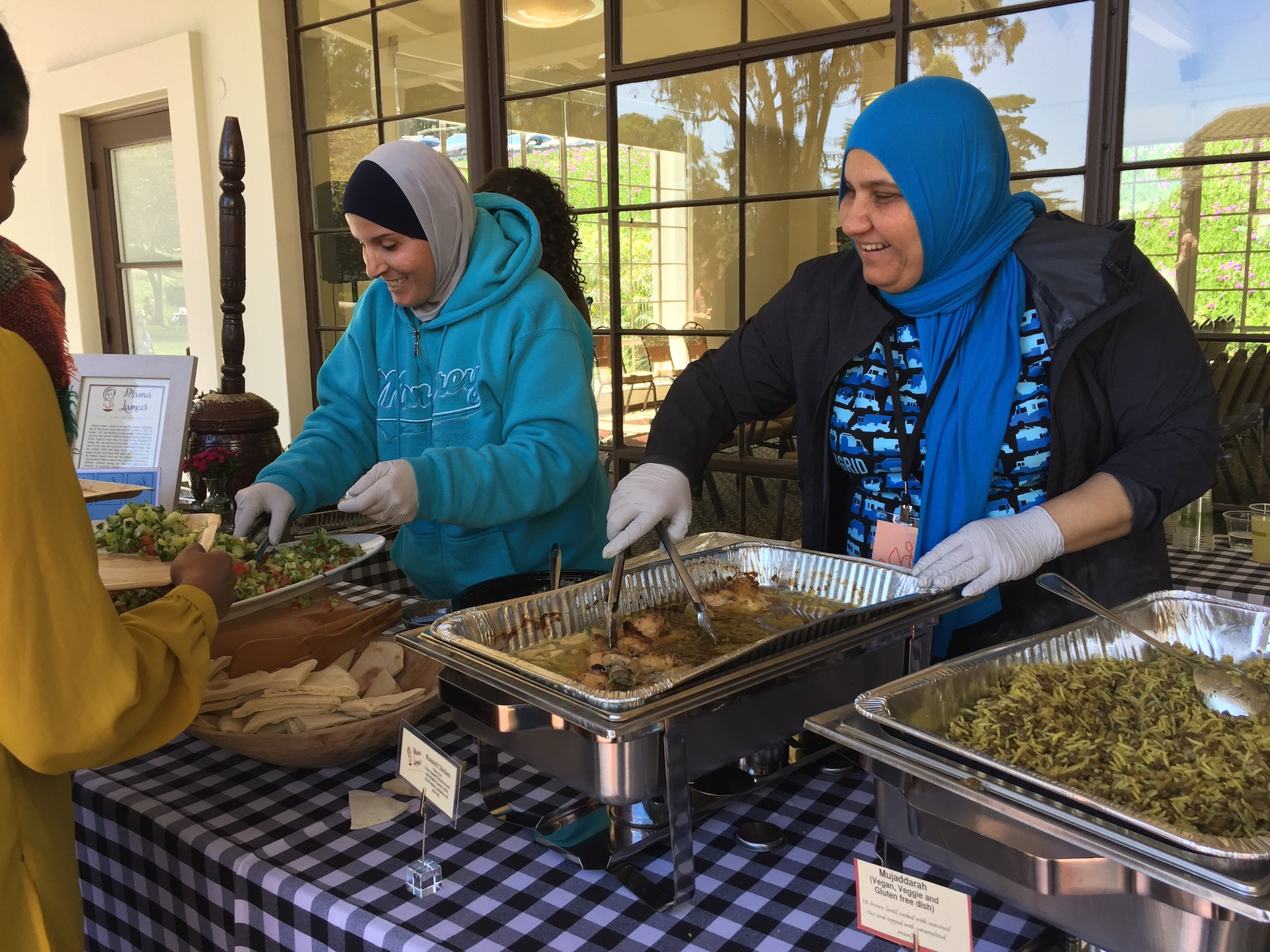 Lunch featured graduates of La Cocina's incubator kitchen project, including Mama Lamees Palestinian cuisine