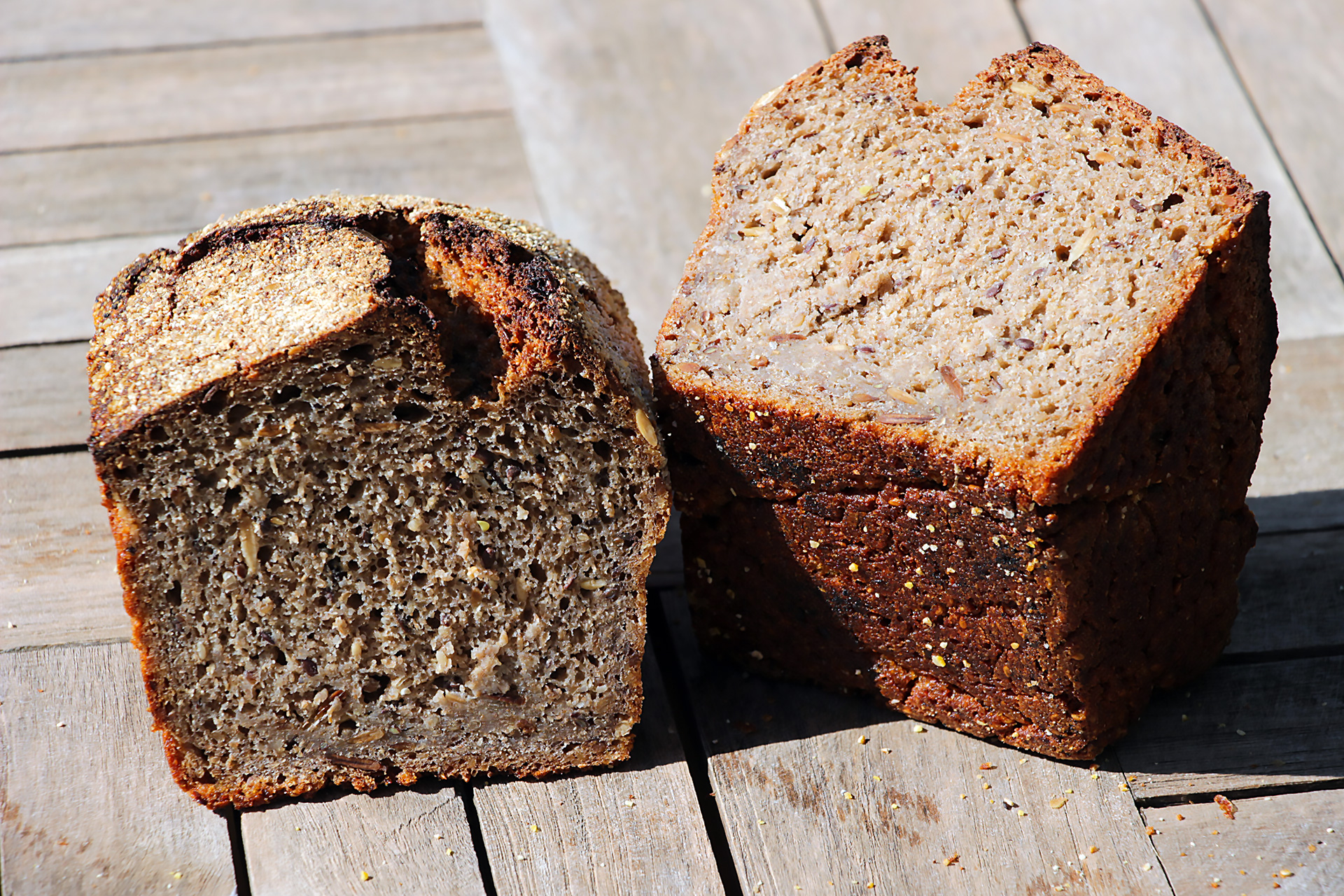 Josey Baker Dark Mountain Rye bread interior.