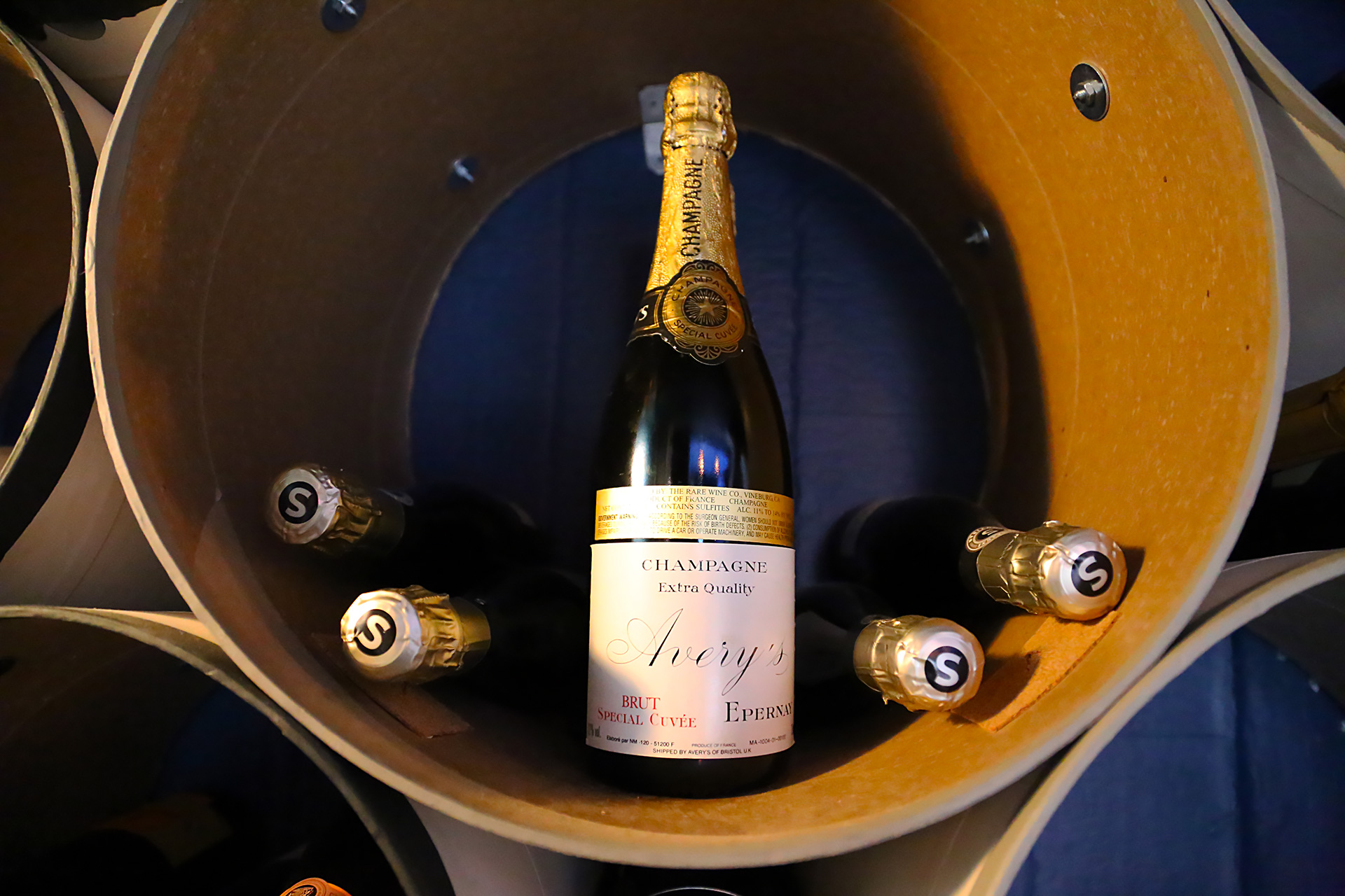 Champagne is the other main beverage specialty at Avery