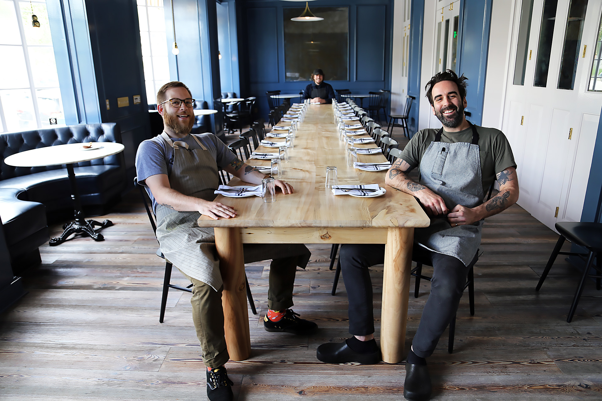The Durant Dining Room with chef Chris Kronner and co-executive chefs Jeffrey Hayden and Justin Huffman