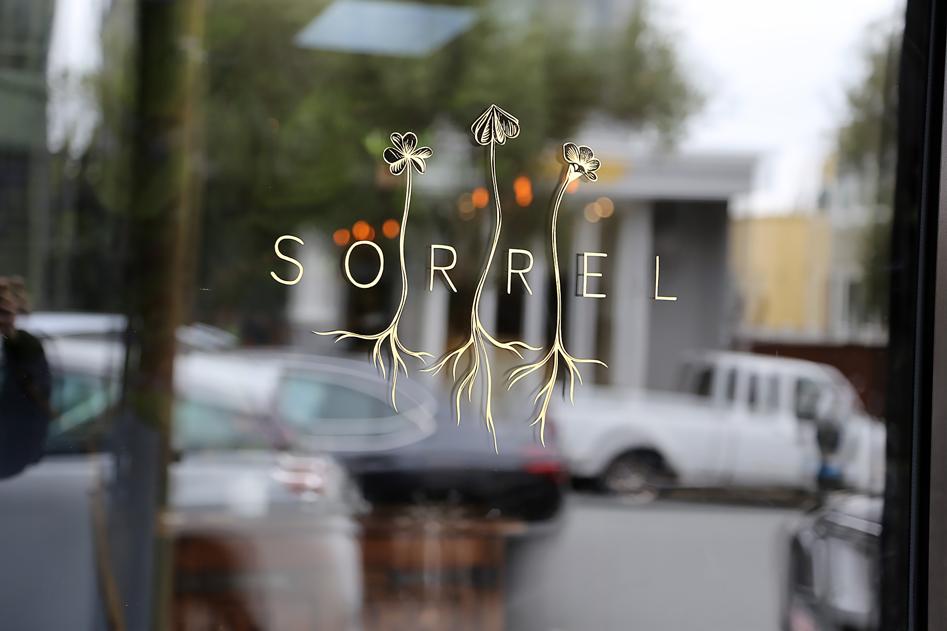 Sorrel logo on front door