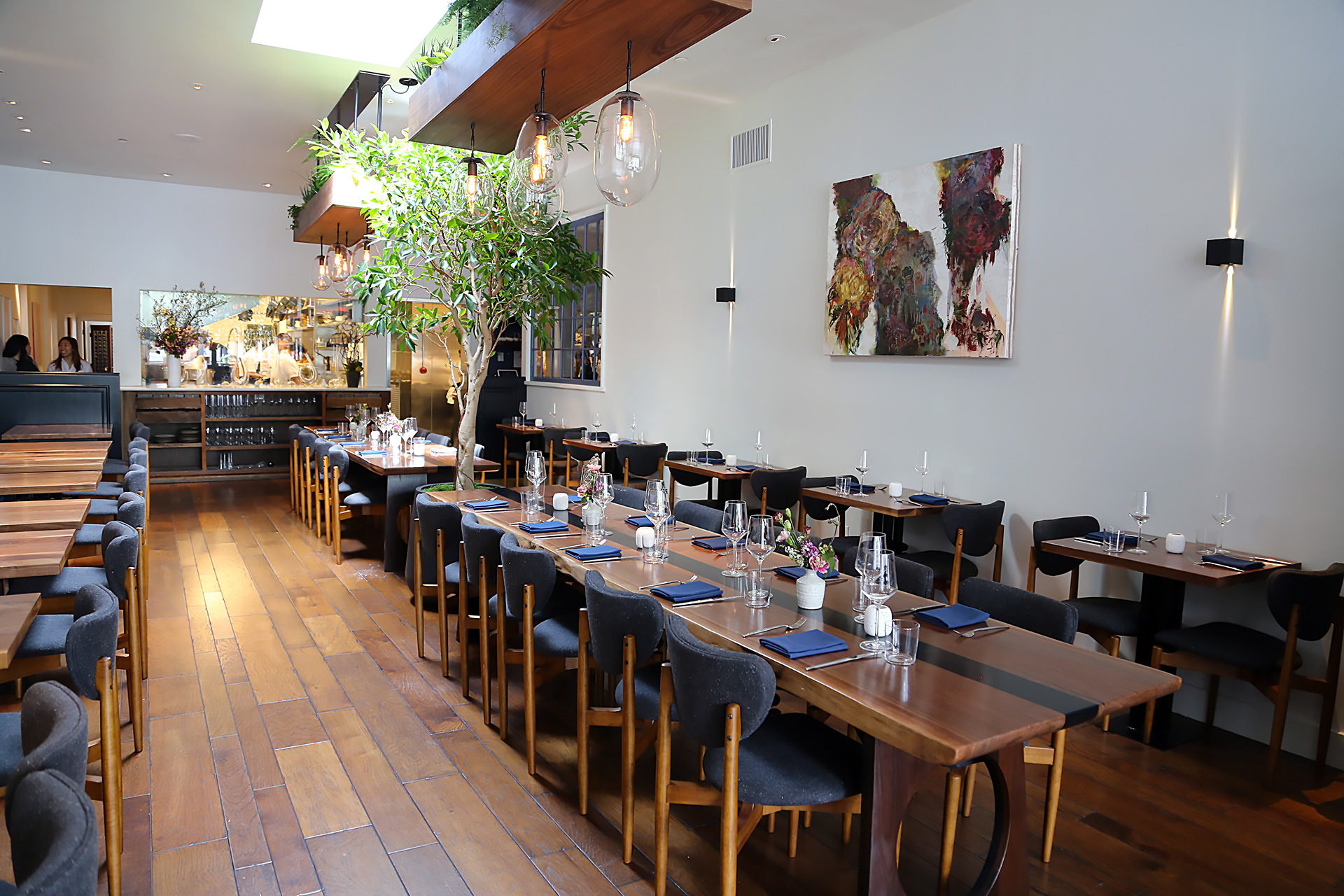Interior main dining space at Sorrel