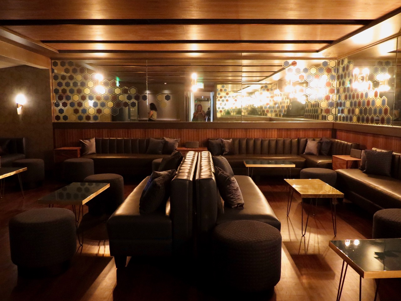 The low-slung back lounge at the new Beehive