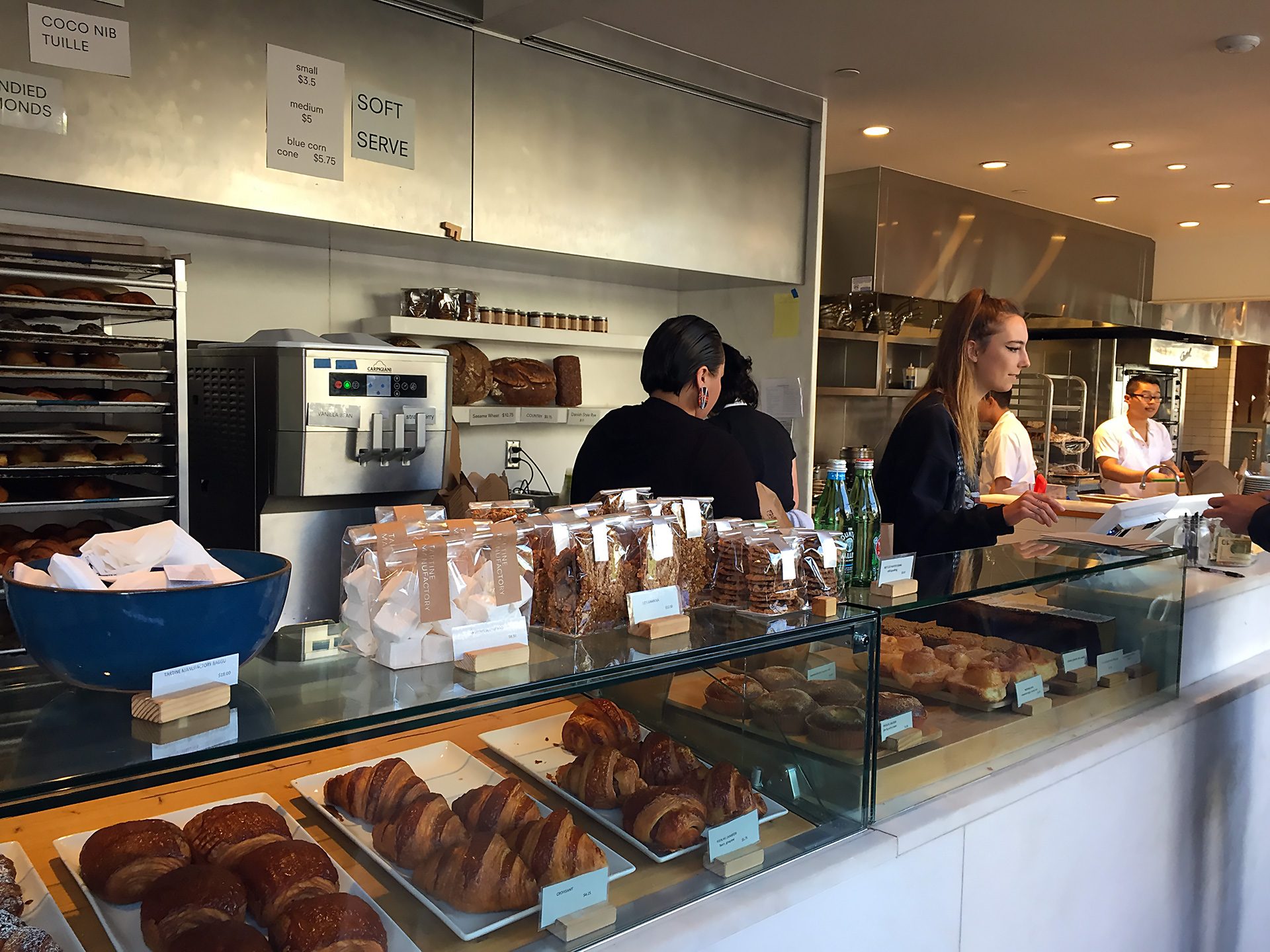 Tartine's bread and pastries on display at the Manufactory.