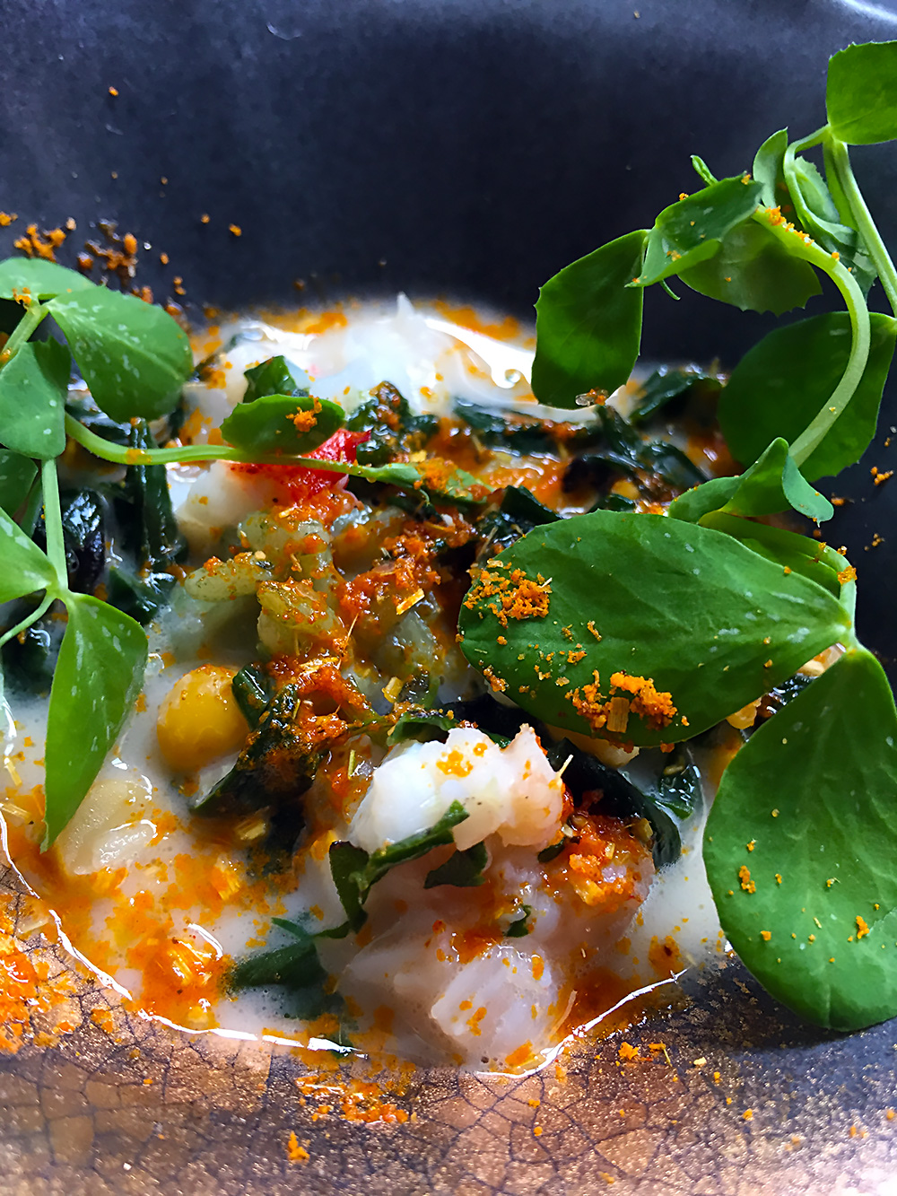'Lobster curry' fortified by Thai spices, yogurt and coconut oil