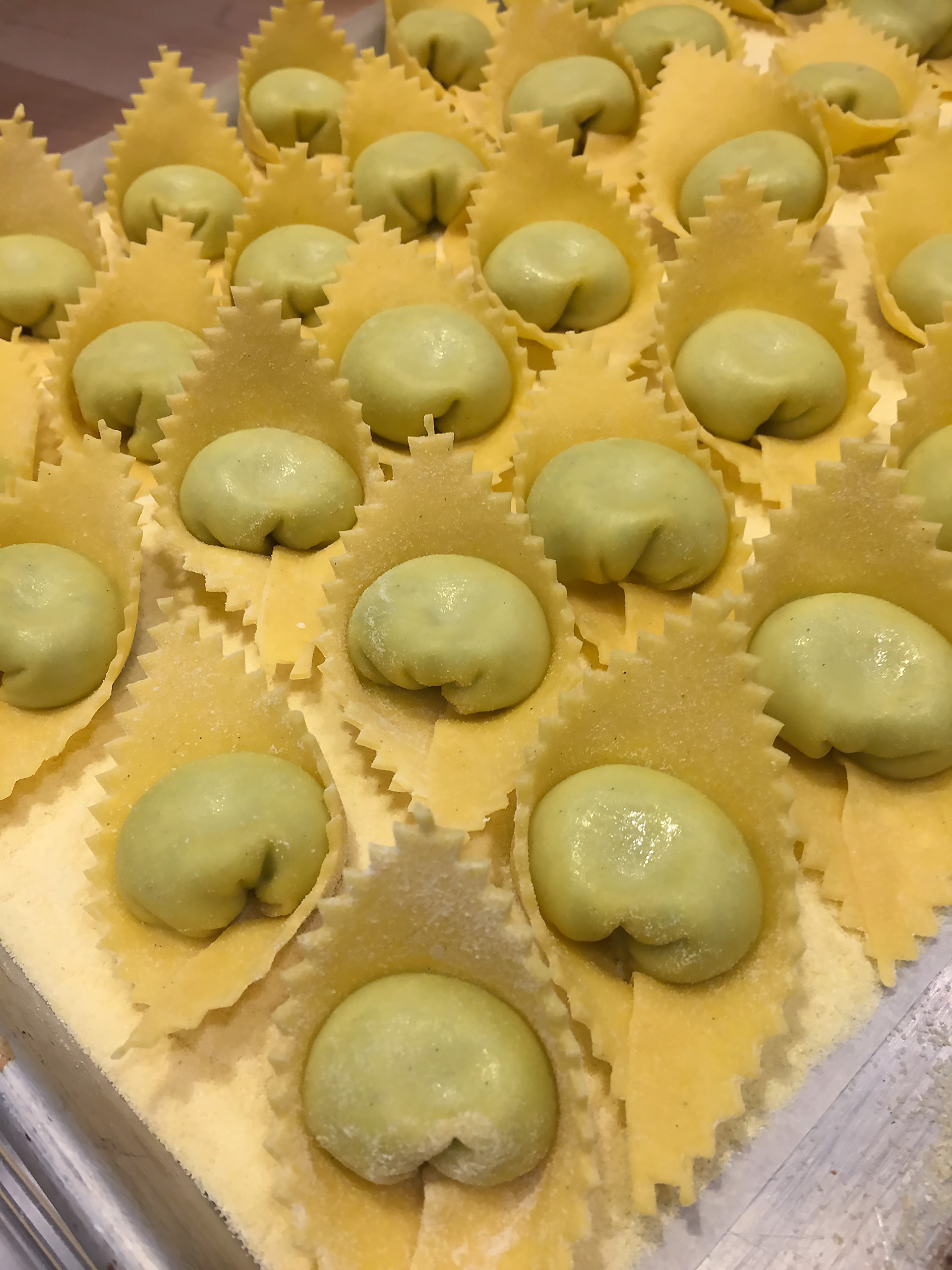 Sheep's milk ricotta-stuffed cappellacci