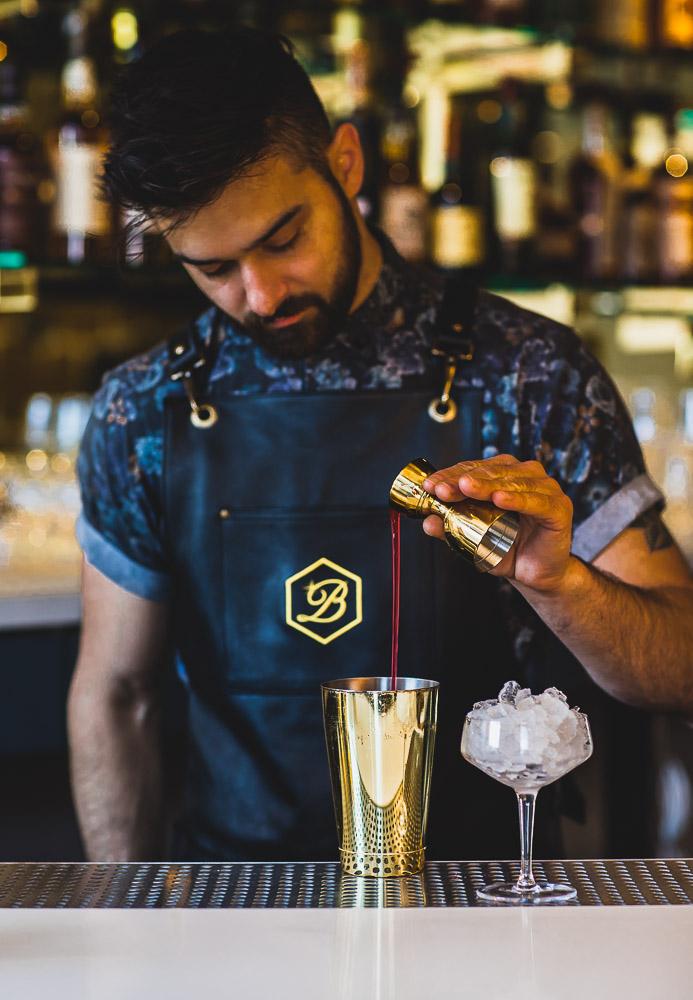 The Beehive lead bartender Emilio Salehi