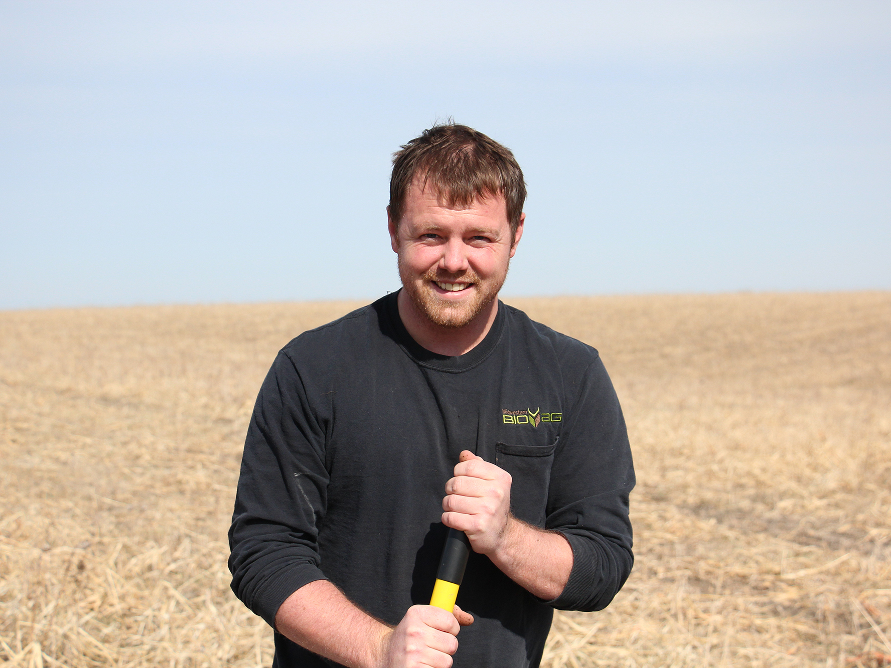 Bryce Irlbeck of Manning, Iowa, says his family's farm uses less fertilizer now that they are planting cover crops between harvests.