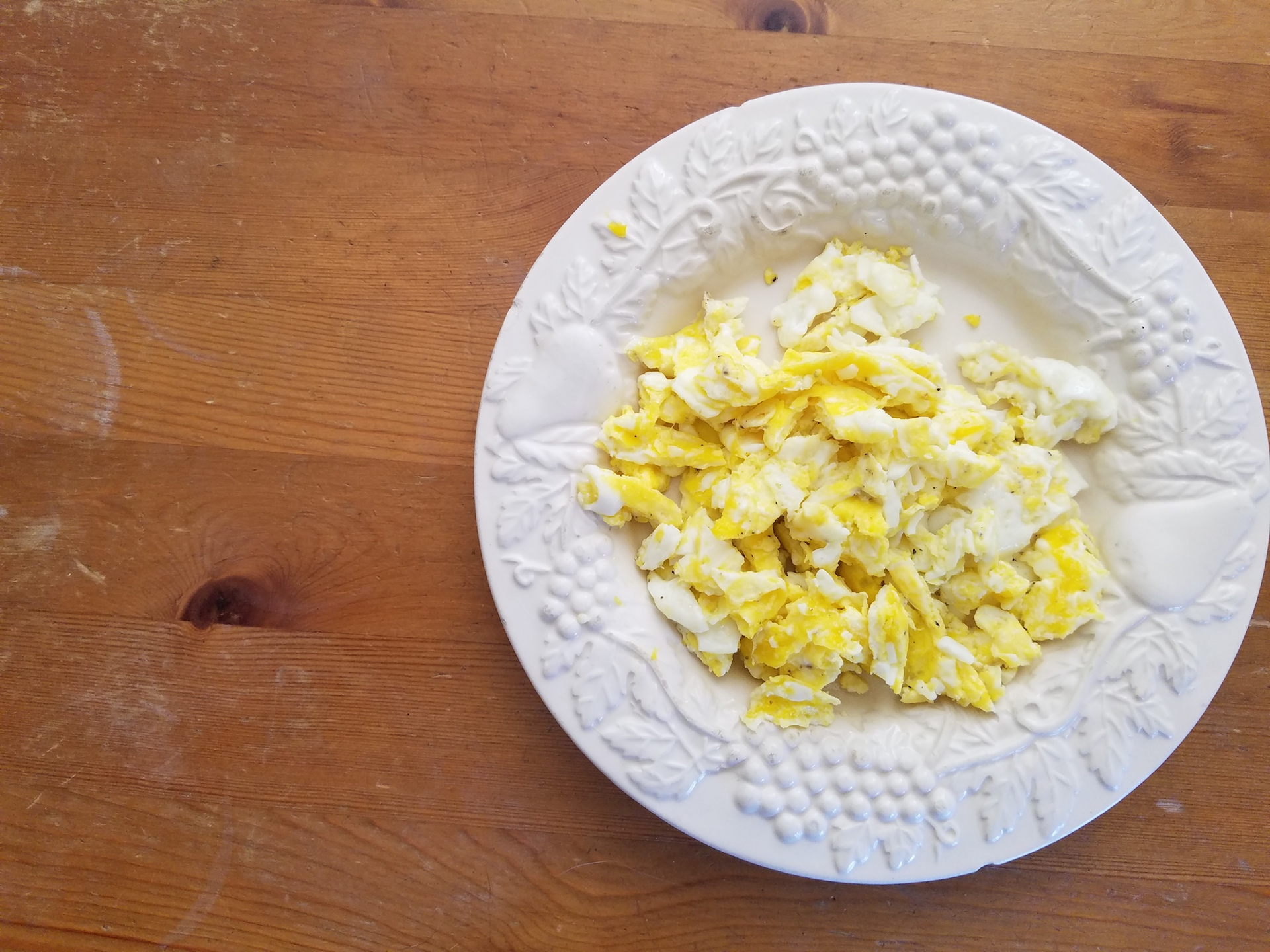 Scrambled eggs from Judy's Family Farm