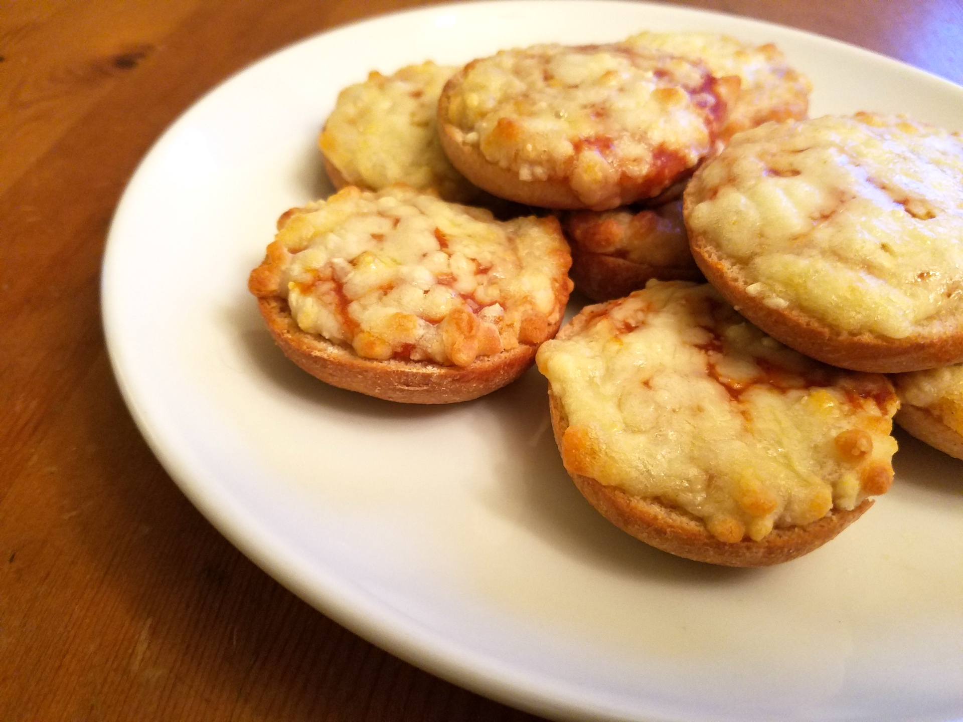 Pizza bagels.