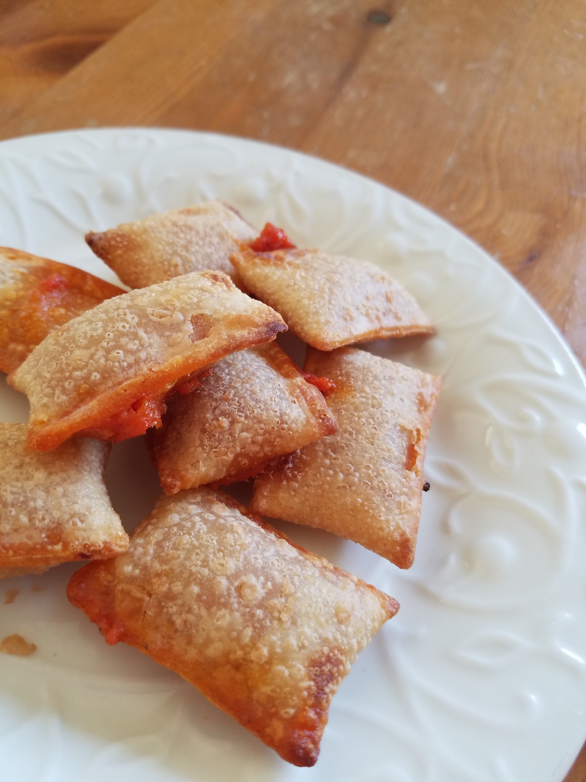 Annie's pepperoni pizza poppers.