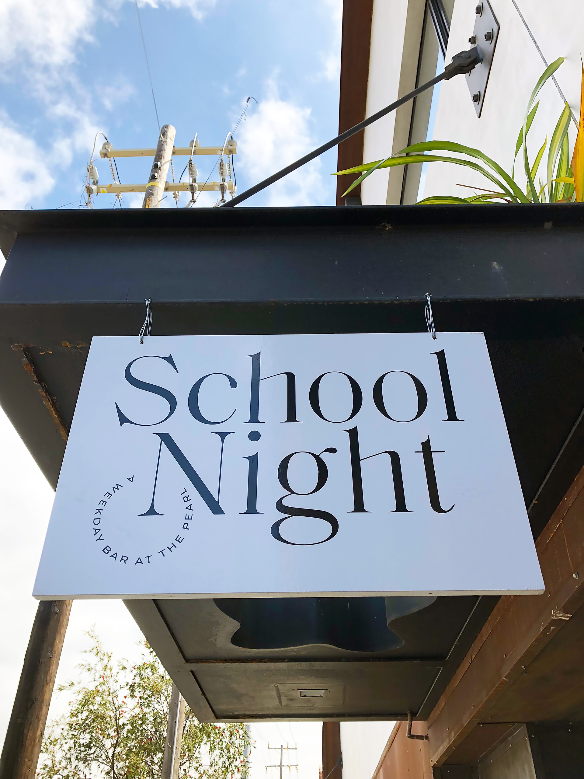 School Night signage