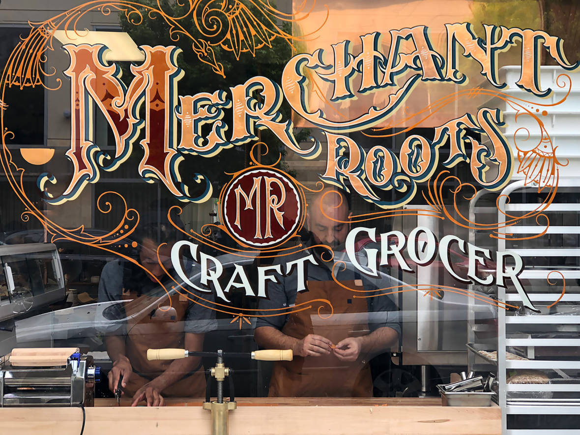 Merchant Roots' Daytime Grocer and Imaginative Nighttime Tasting Menu Table Arrives on Fillmore