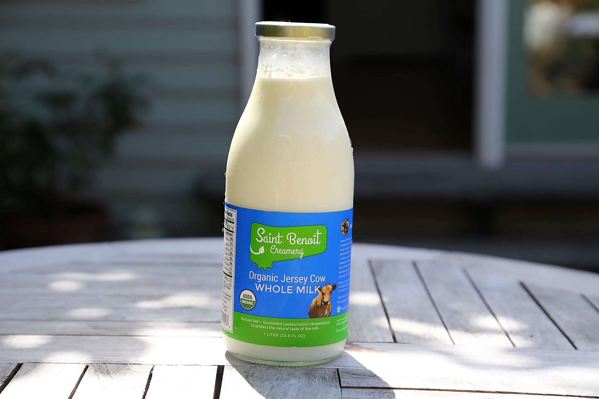 Saint Benoît Organic Jersey Cow Whole Milk